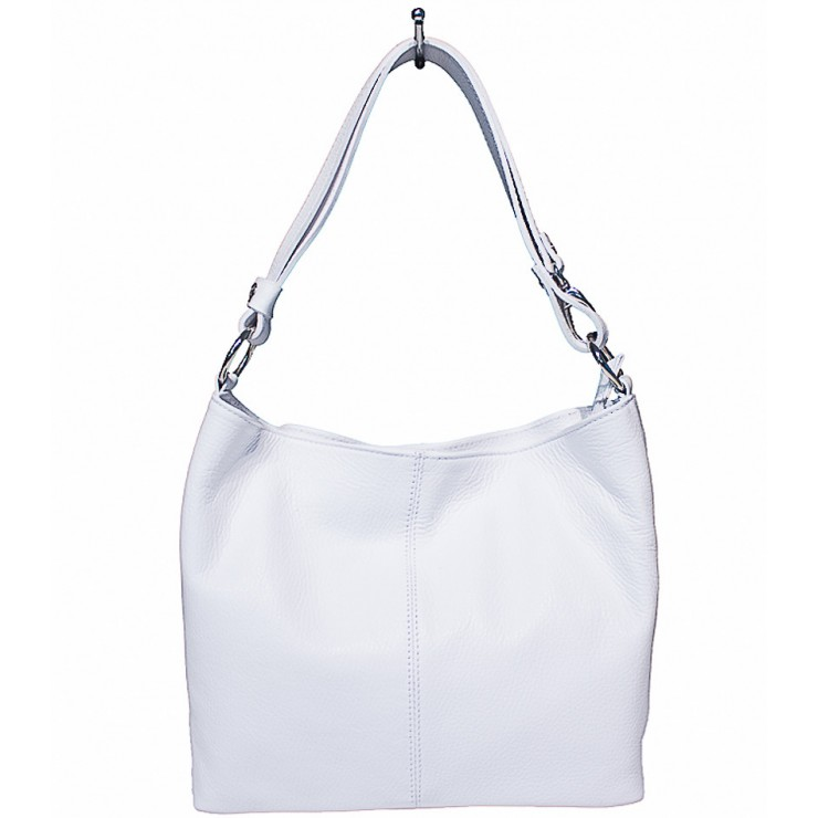 Kožená kabelka na rameno 729 bílá