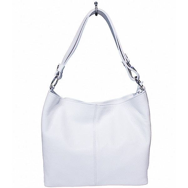 Genuine Leather Handbag 729 white