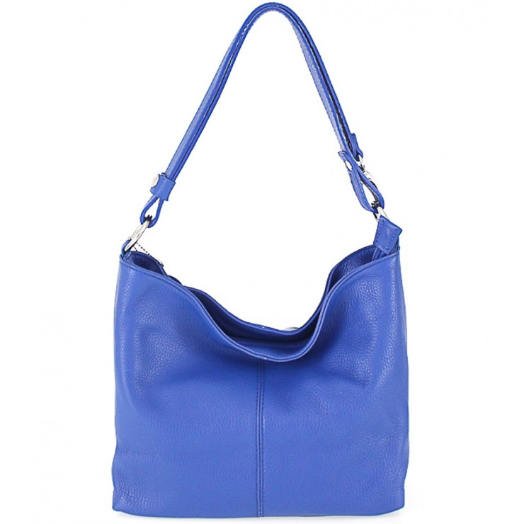 Genuine Leather Handbag 729 bluette