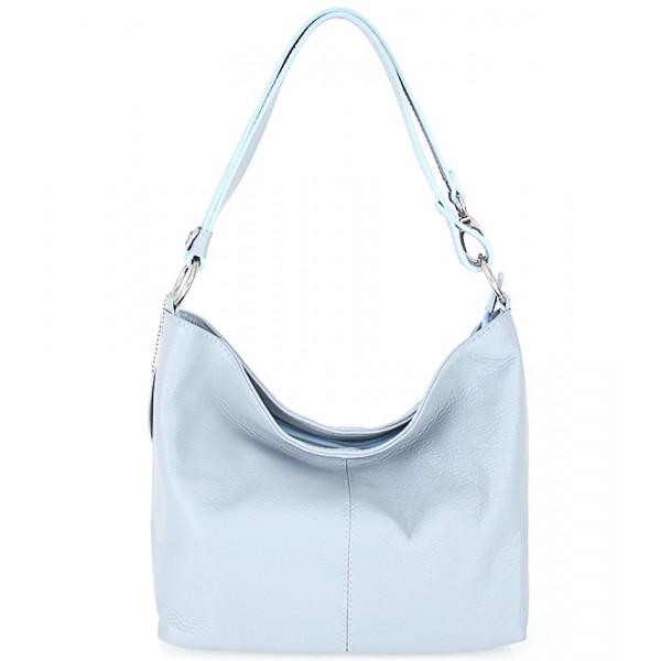 Kožená kabelka na rameno 729 nebesky modrá