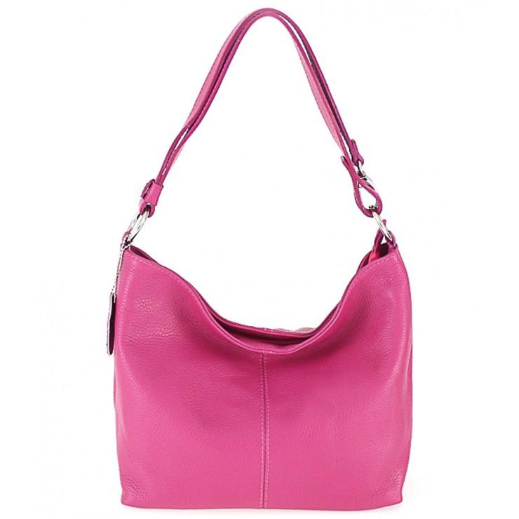 Genuine Leather Handbag 729 fuxia