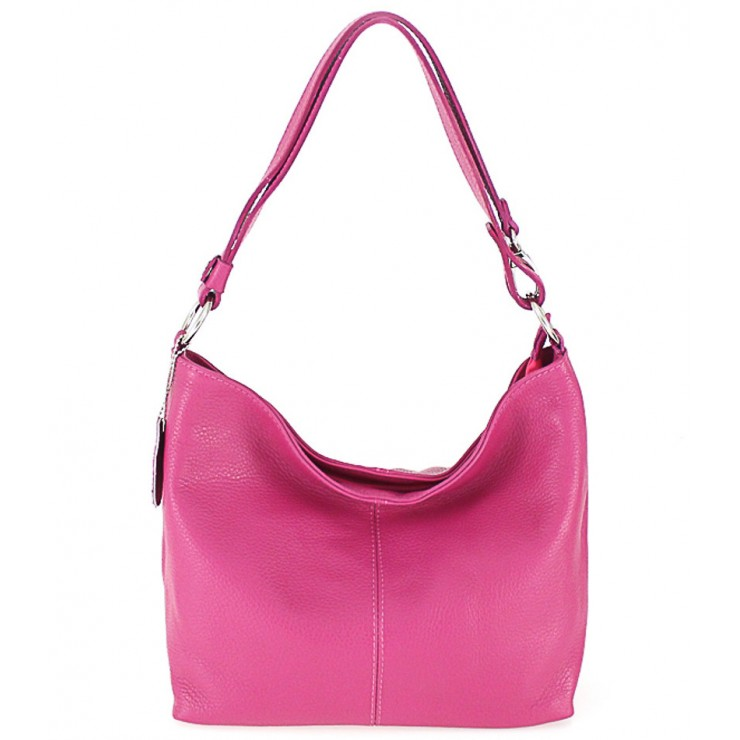 Genuine Leather Handbag 729 fuxia