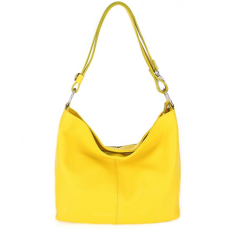 Kožená kabelka na rameno 729 žltá