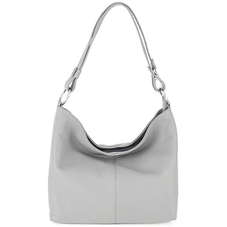 Genuine Leather Handbag 729 gray
