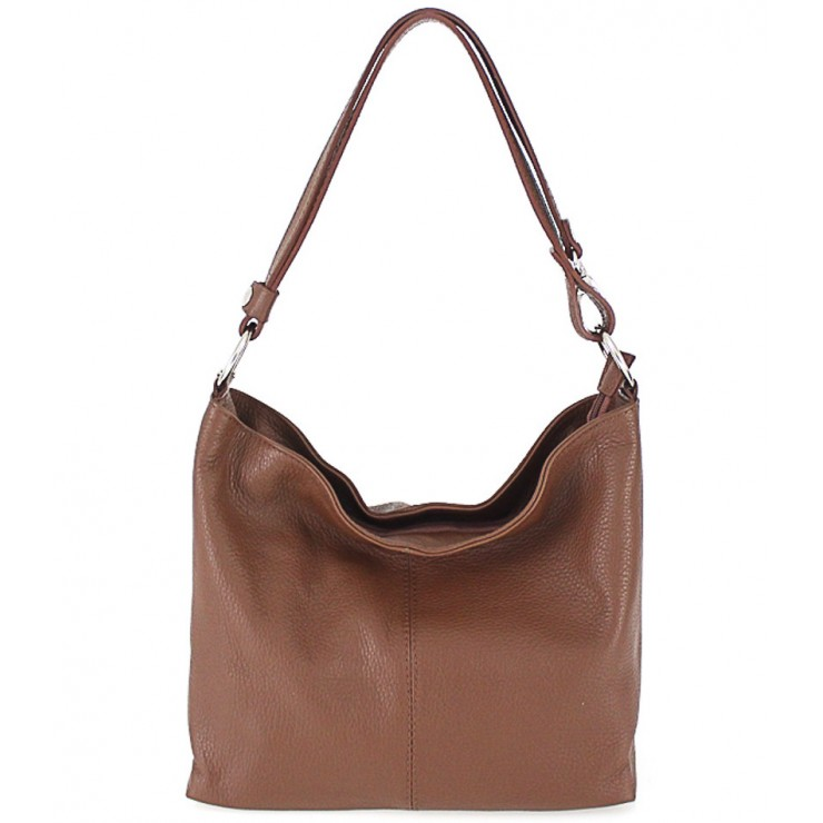 Genuine Leather Handbag 729 brown