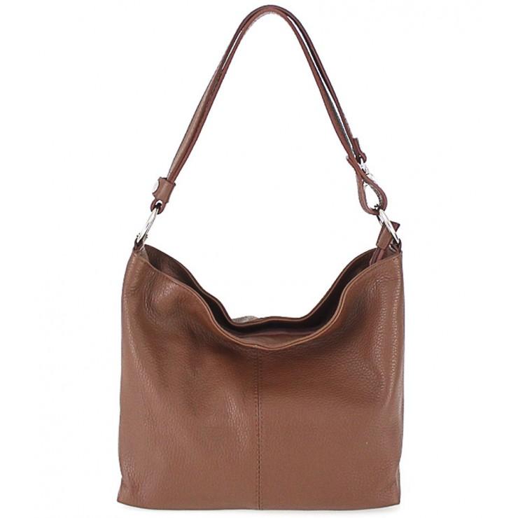 Kožená kabelka na rameno 729 hnedá