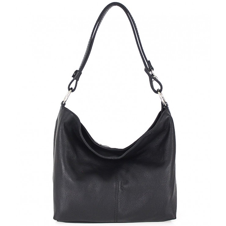 Genuine Leather Handbag 729 black