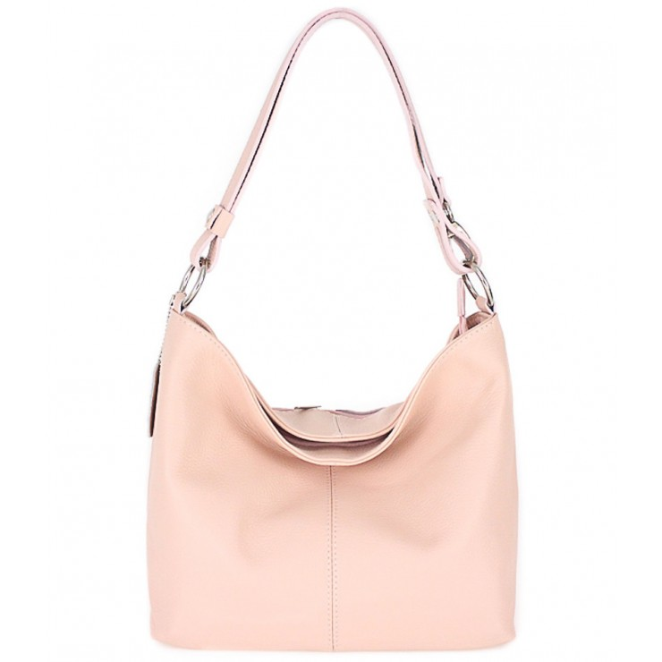 Genuine Leather Handbag 729 pink