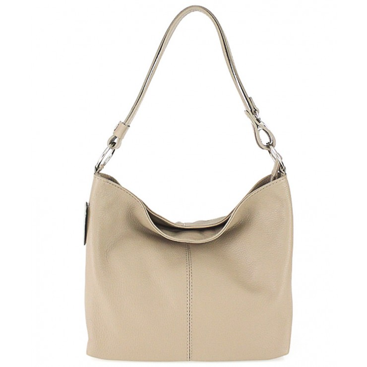 Genuine Leather Handbag 729 taupe
