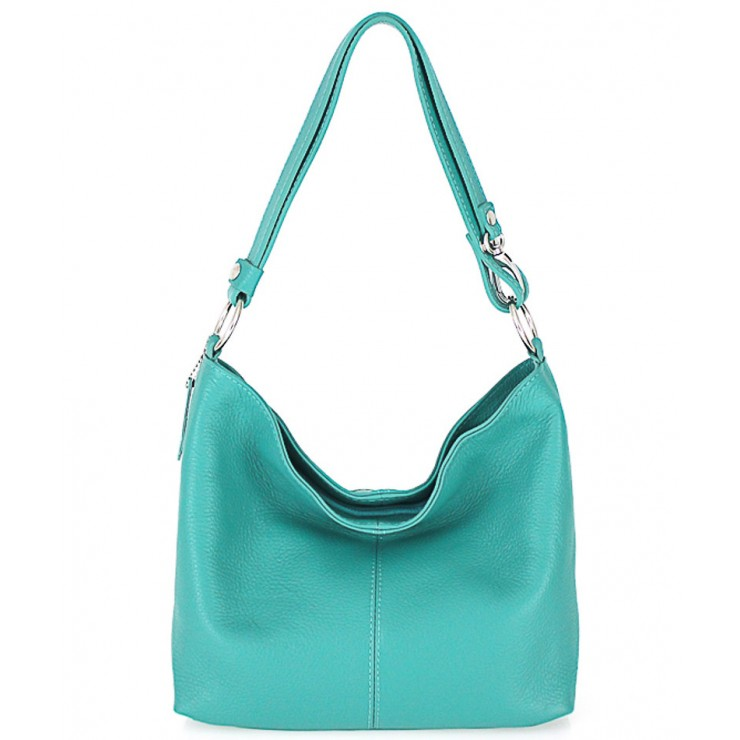 Genuine Leather Handbag 729 turquoise