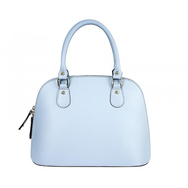 7d83b3e566 Nebesky modrá dámska kožená kabelka 444 - MONDO ITALIA s.r.o.