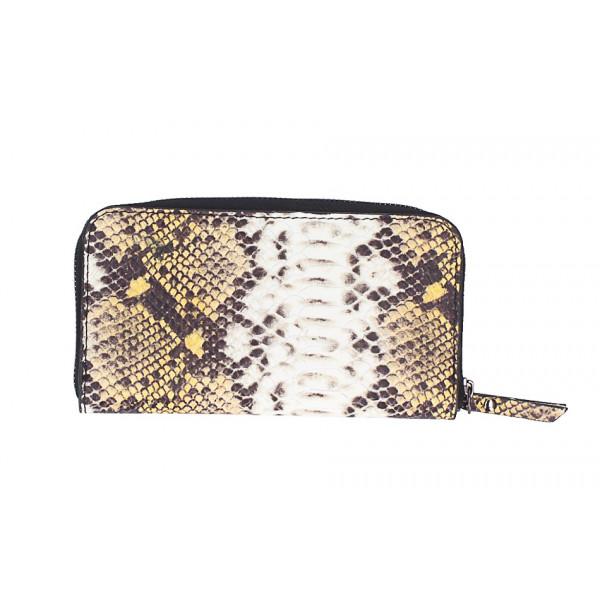 Peňaženka s hadím motívom 1445 žltá Žltá
