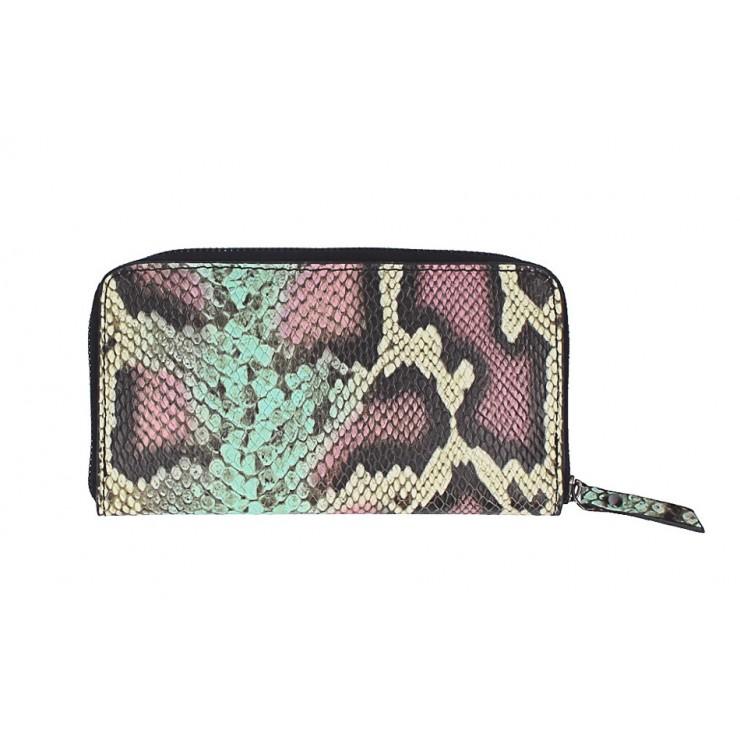 Peňaženka s hadím motívom 1445 tyrkysová