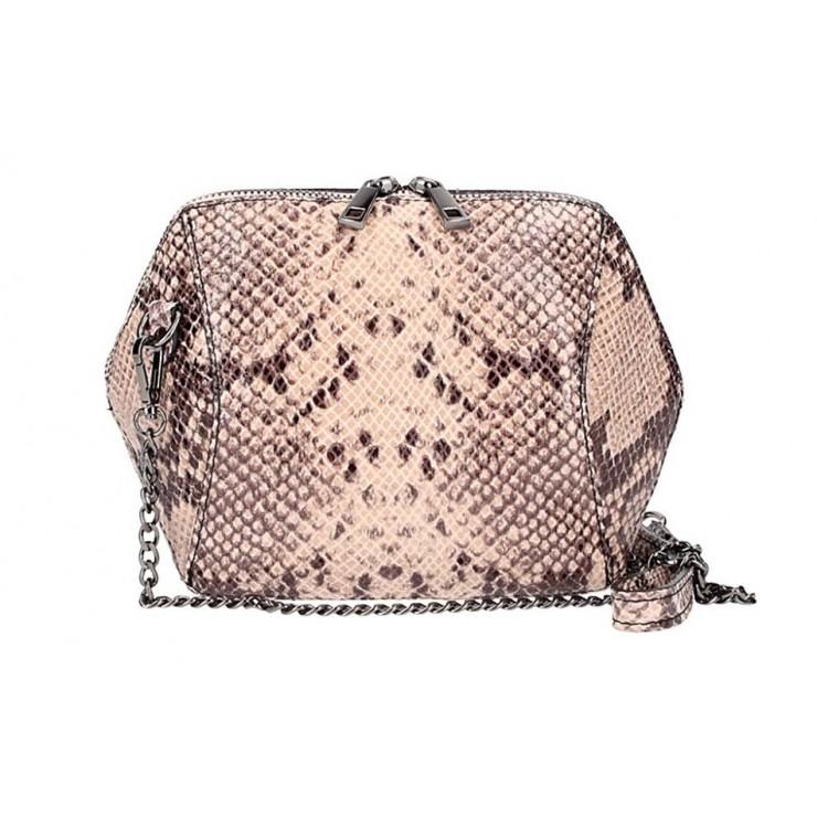 Ružová kožená kabelka 446