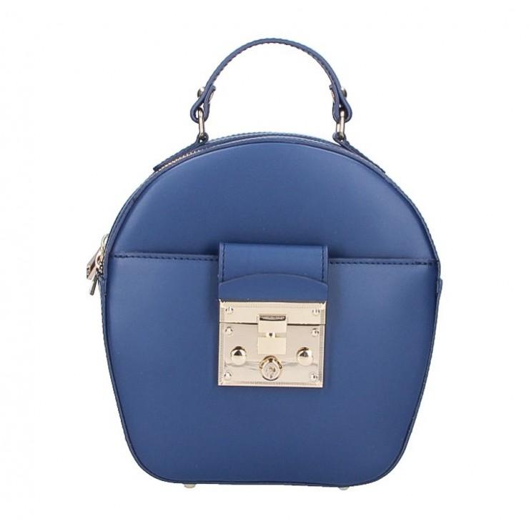 Dámska kožená kabelka na rameno 5333 modrá