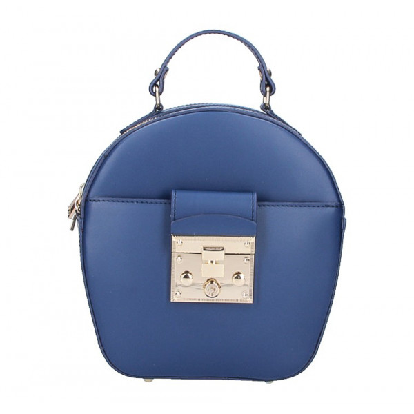 fca0dfe60 Dámska kožená kabelka na rameno 5333 modrá - MONDO ITALIA s.r.o.