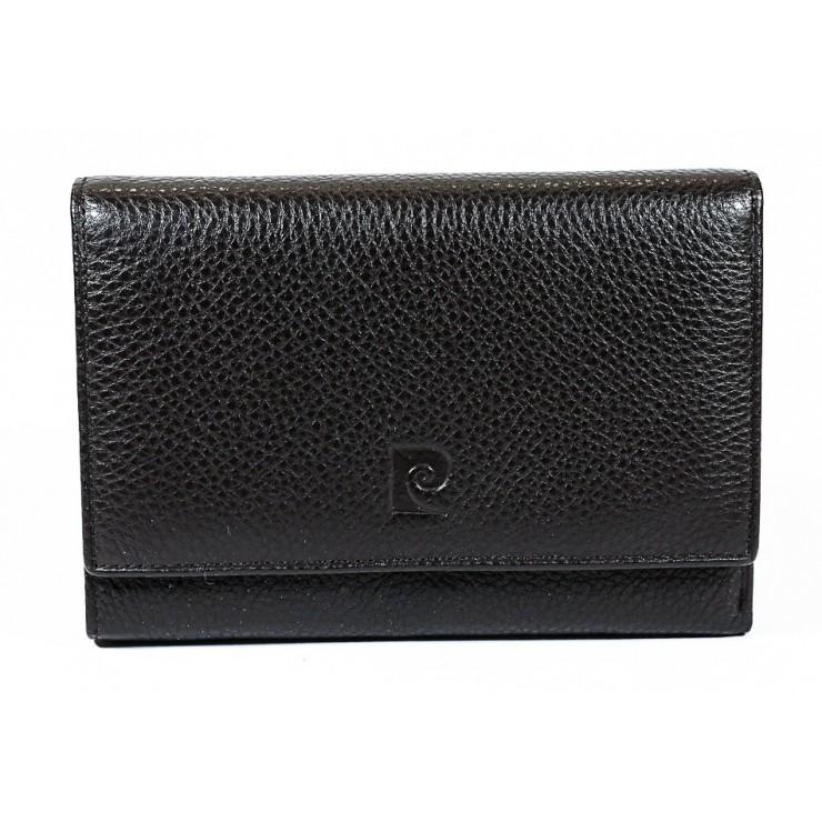Dámska kožená peňaženka tmavohnedá Pierre Cardin