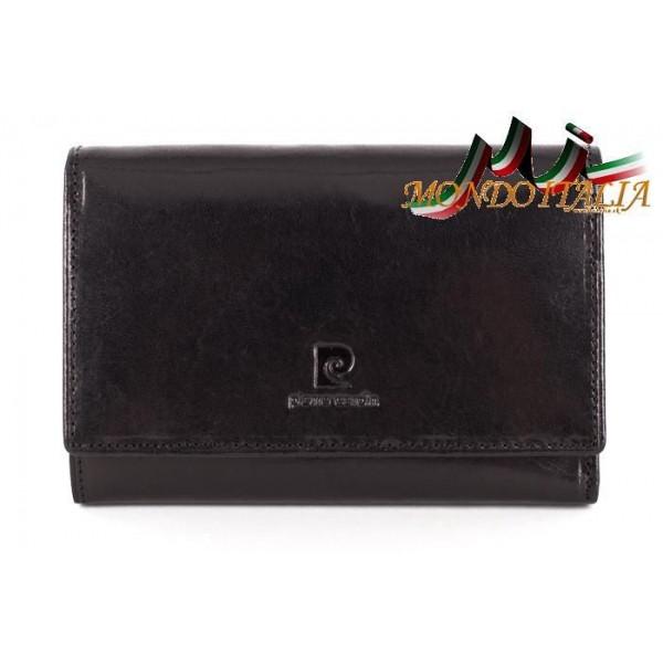 Dámska kožená peňaženka P076 PSP02 čierna PIERRE CARDIN Čierna
