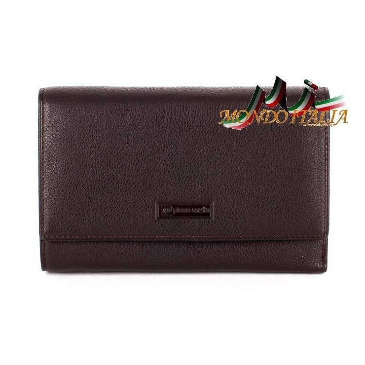 Woman genuine leather wallet 1094 brown PIERRE CARDIN