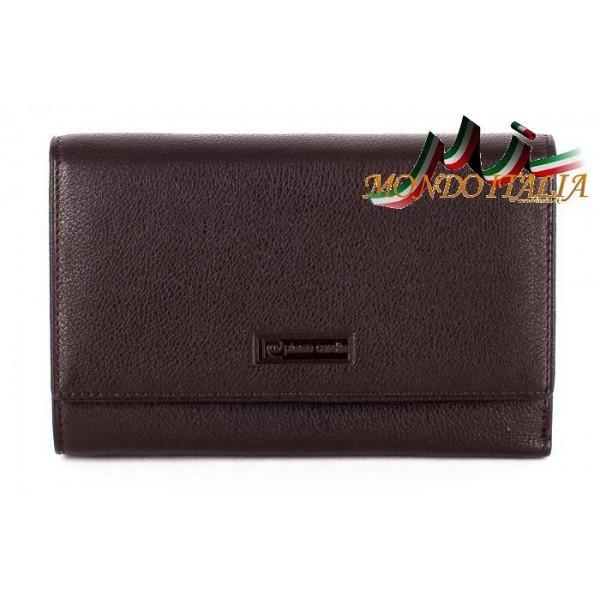Dámska kožená peňaženka 1094 hnedá PIERRE CARDIN Hnedá