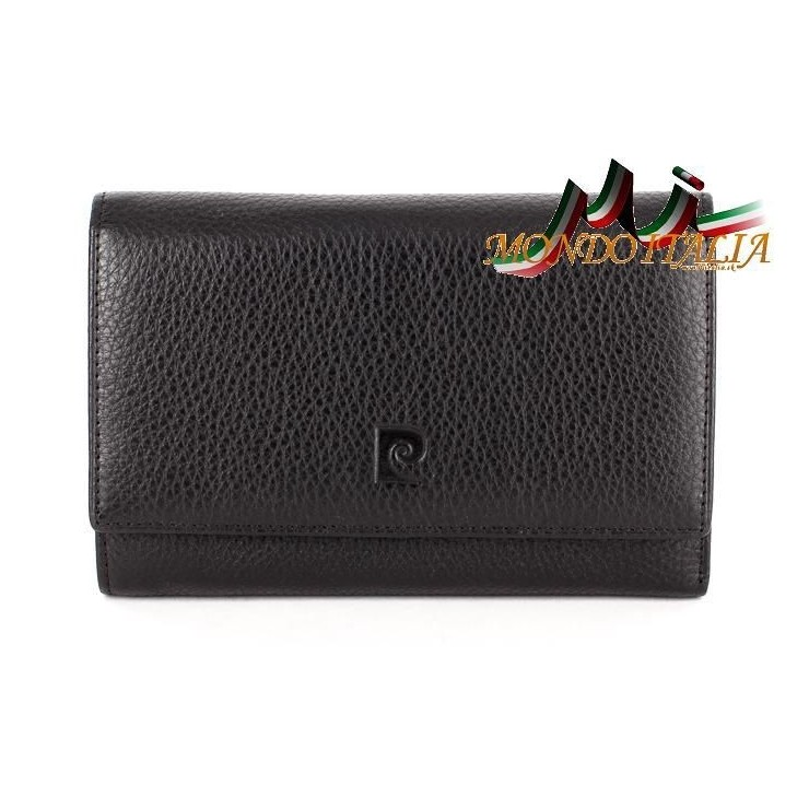 Woman genuine leather wallet 1092 black PIERRE CARDIN