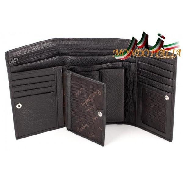Dámska kožená peňaženka 1092 čierna PIERRE CARDIN Čierna