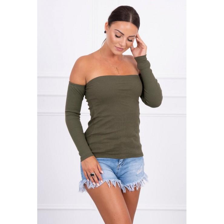 Tričko s odhalenými ramenami MI5052 zelené