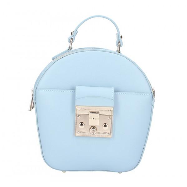 Dámska kožená kabelka na rameno 5333 nebesky modrá
