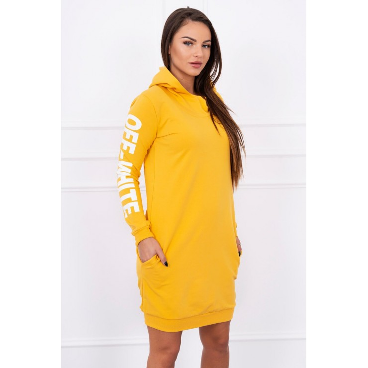 Dress Off White MI62182 mustard