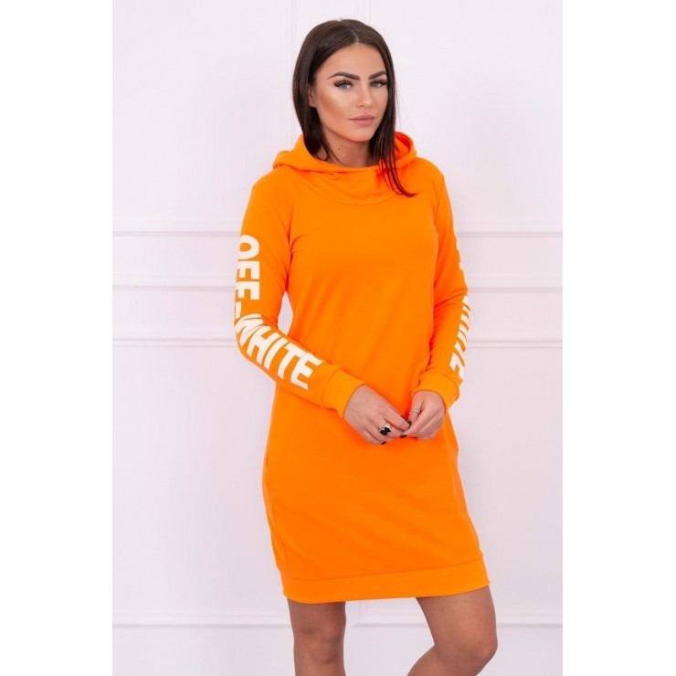 Dress Off White MI62182 neon orange