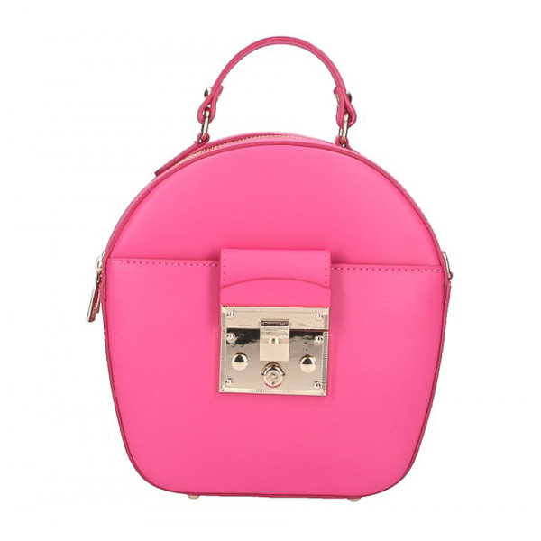 Dámska kožená kabelka na rameno 5333 fuchsia