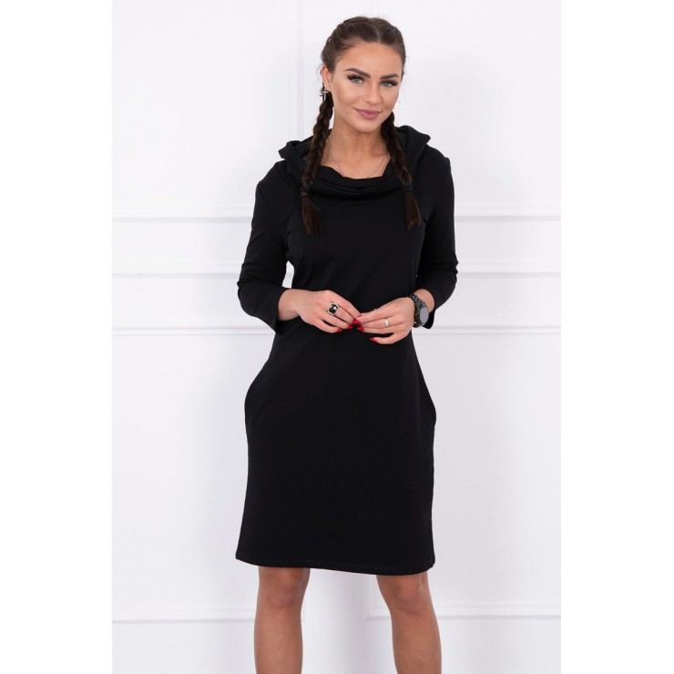 Dress with hood and pockets MIG8847 black