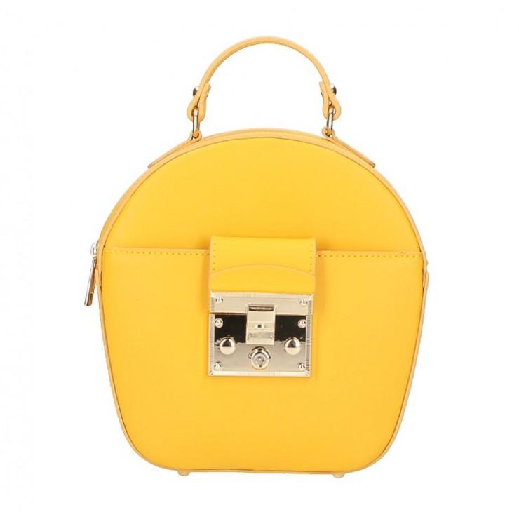 Dámska kožená kabelka na rameno 5333 žltá