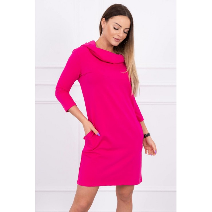 Dress with hood and pockets MIG8847 fuxia