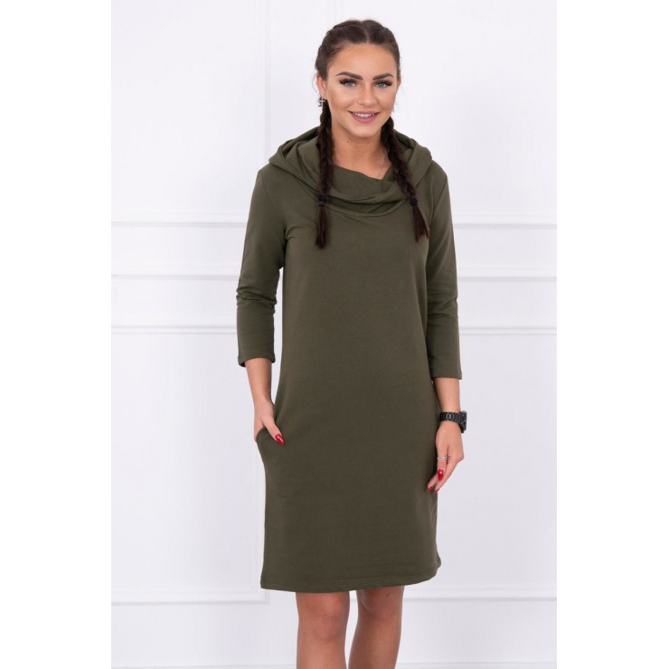 Dress with hood and pockets MIG8847 green