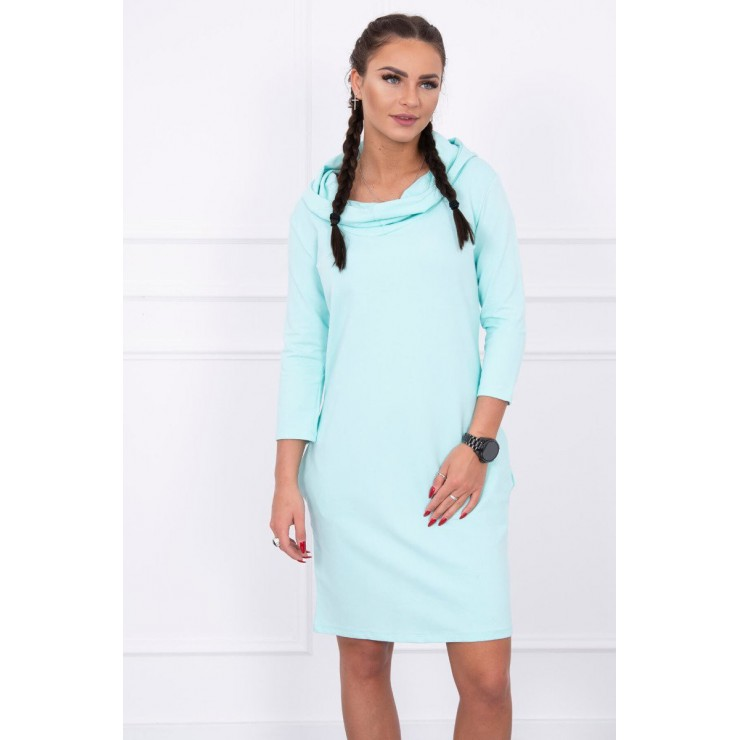 Dress with hood and pockets MIG8847 mint