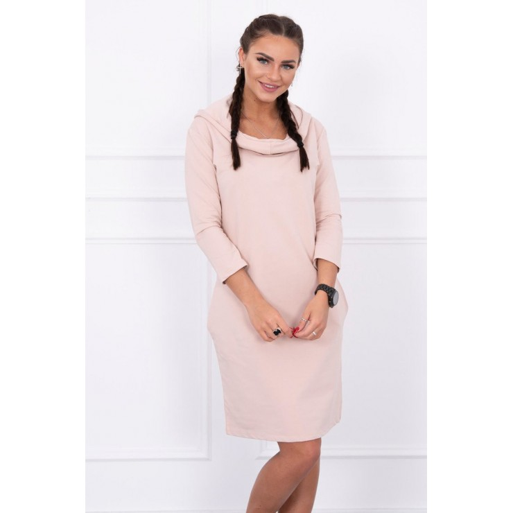 Dress with hood and pockets MIG8847 beige
