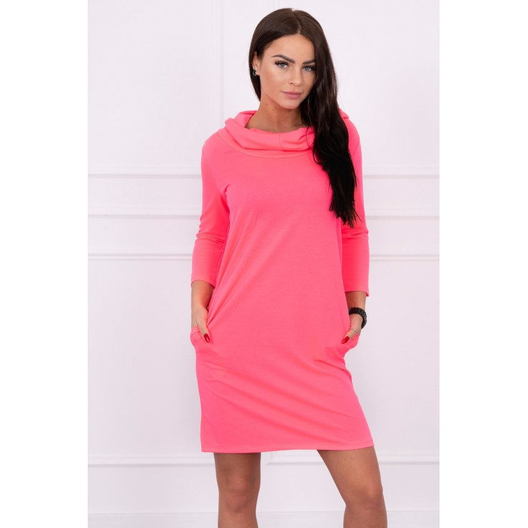 Dress with hood and pockets MIG8847 neon pink