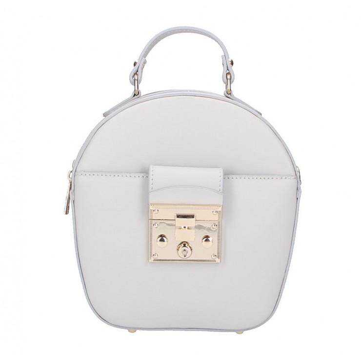 Dámska kožená kabelka na rameno 5333 šedá