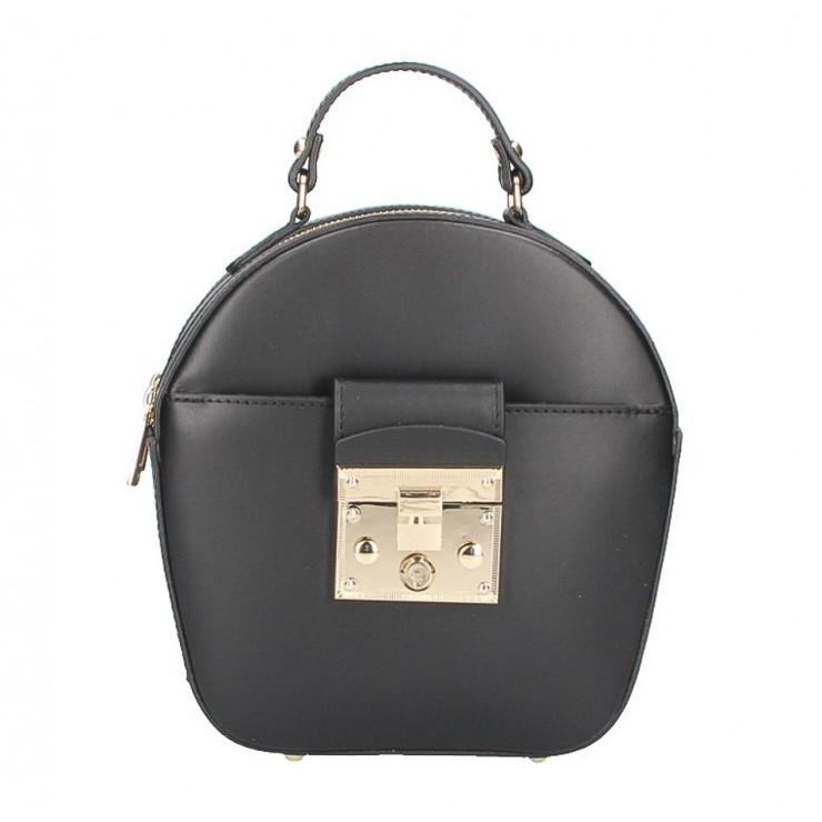 Dámska kožená kabelka na rameno 5333 čierna
