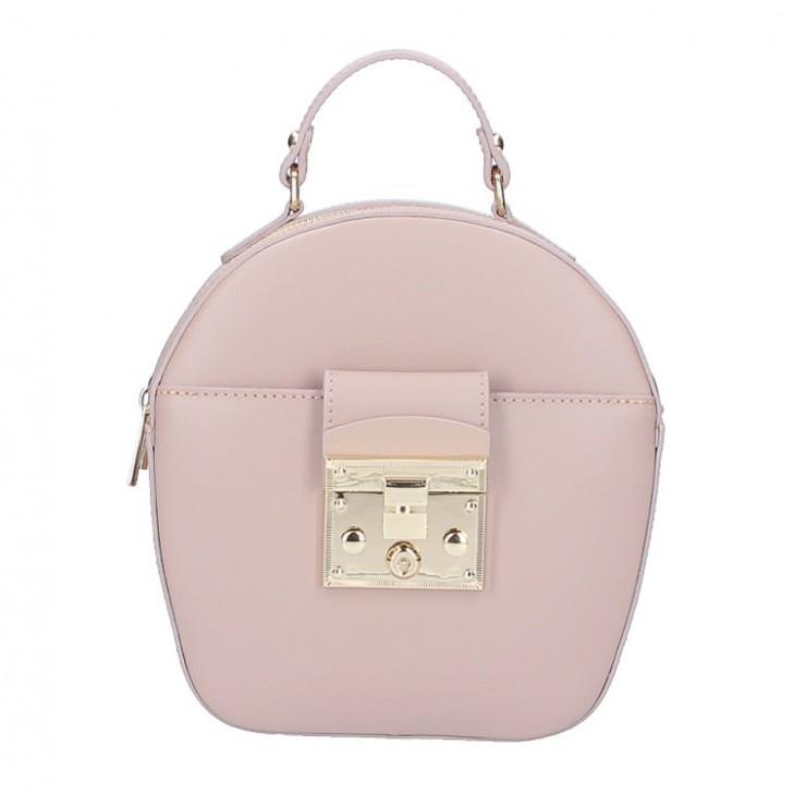 Dámska kožená kabelka na rameno 5333 ružová