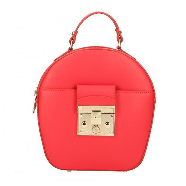 Dámska kožená kabelka na rameno 5333 červená