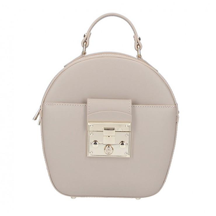 Dámska kožená kabelka na rameno 5333 šedohnedá