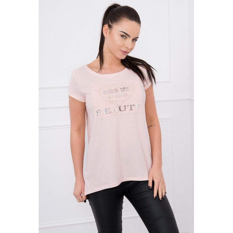 T-shirt Kiss Me MI8866 powder pink