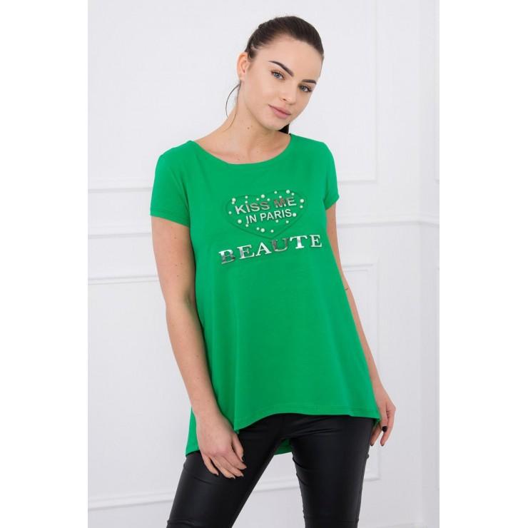 Tričko Kiss Me MI8866 zelený neón