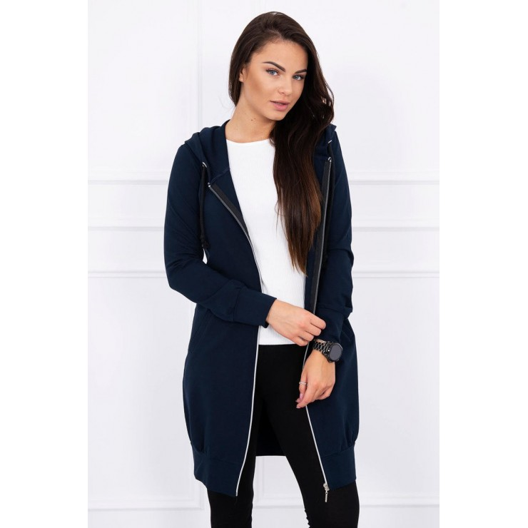 Hooded dress with e hood dark blue