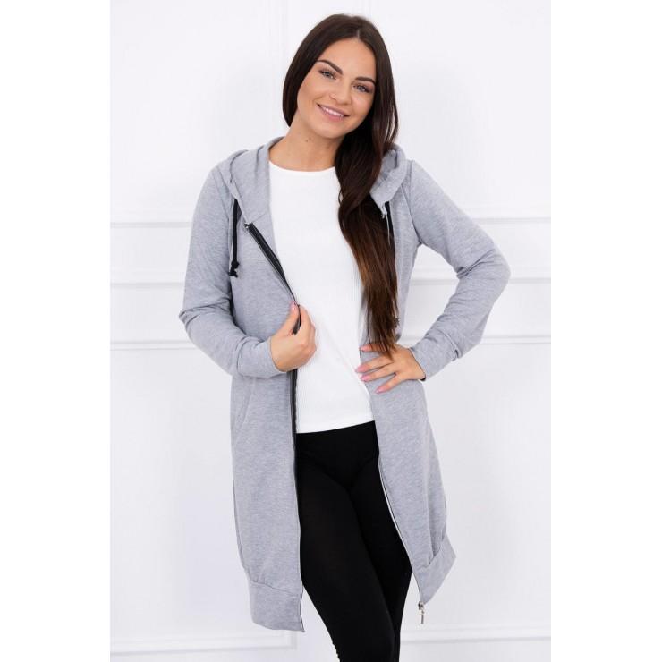Hooded dress with e hood gray