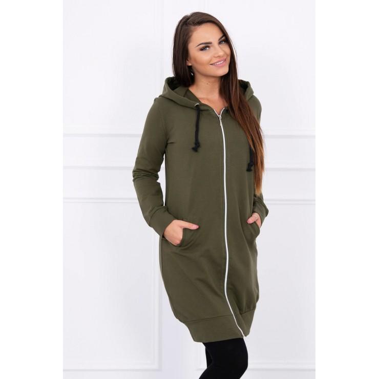 Hooded dress with e hood khaki