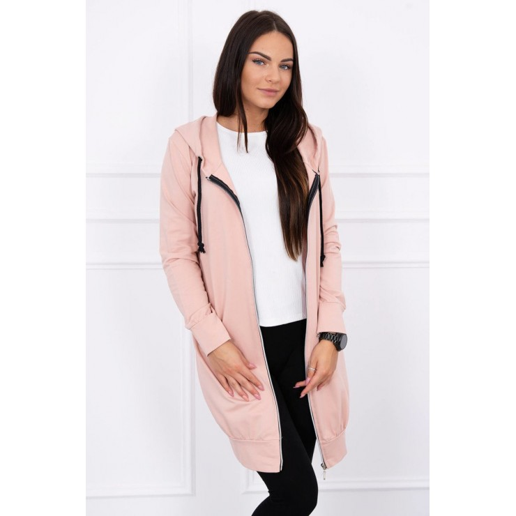 Hooded dress with e hood powder pink