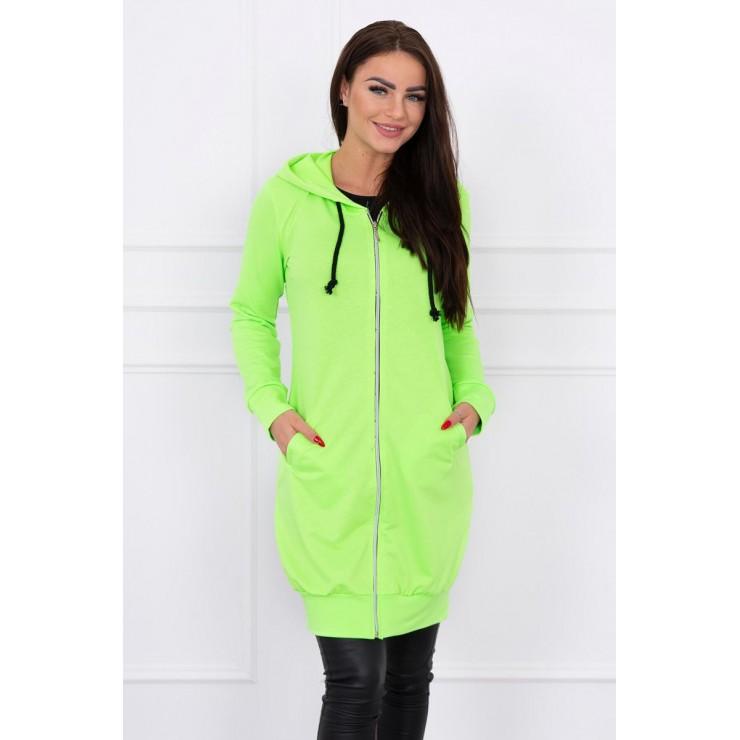 Dámská mikina s kapucí a kapsami MI8924 zelený neon